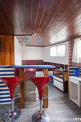 Barge Paris 13° - Kitchen
