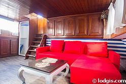 Barge Paris 13° - Living room