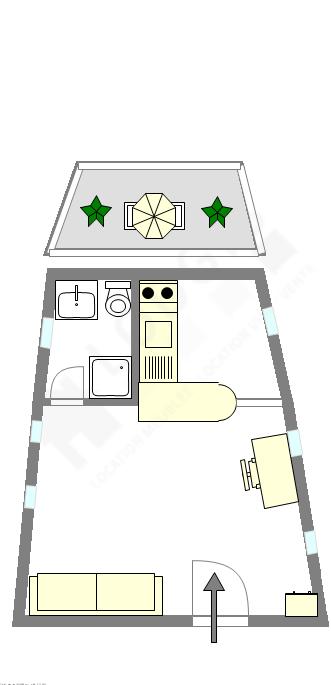 Barge Paris 13° - Interactive plan