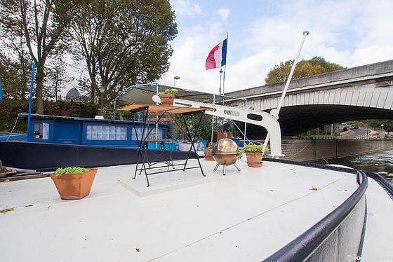 Péniche Paris 13° - Terrasse