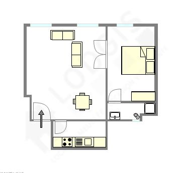 Wohnung Paris 12° - Interaktiven Plan