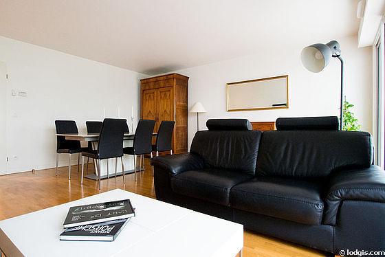 Séjour très calme équipé de télé, 6 chaise(s)