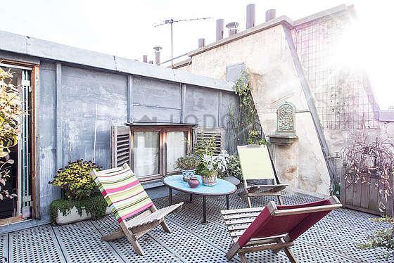 location studio avec terrasse paris