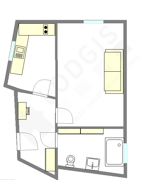 Apartment Paris 8° - Interactive plan