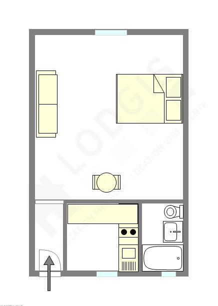 Appartamento Parigi 8° - Piantina interattiva