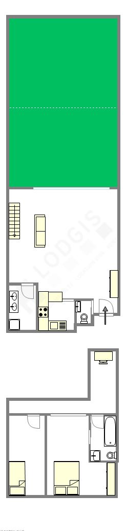 Duplex Seine st-denis Est - Plan interactif