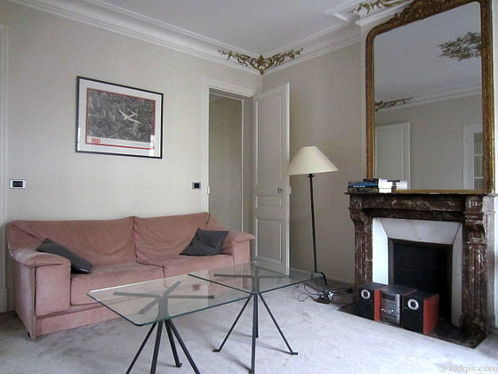 Living room with the carpeting floor