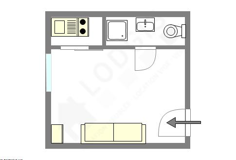 Apartment Paris 14° - Interactive plan