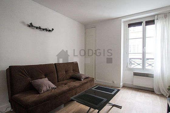 Salon de 11m² avec du linoleum au sol
