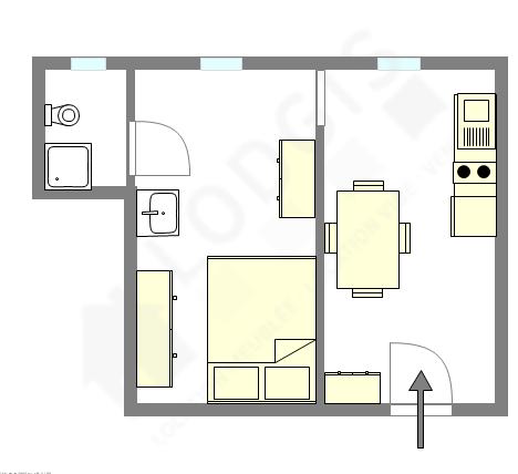 Apartamento París 8° - Plano interactivo