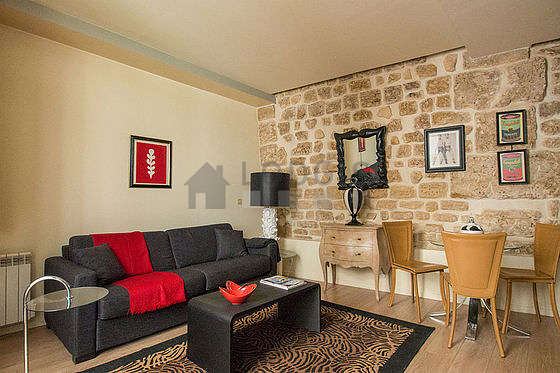 Very quiet living room furnished with 1 sofabed(s) of 160cm, tv, 1 armchair(s), 3 chair(s)