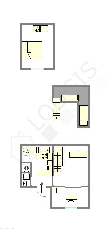 独栋房屋 巴黎15区 - 平面图