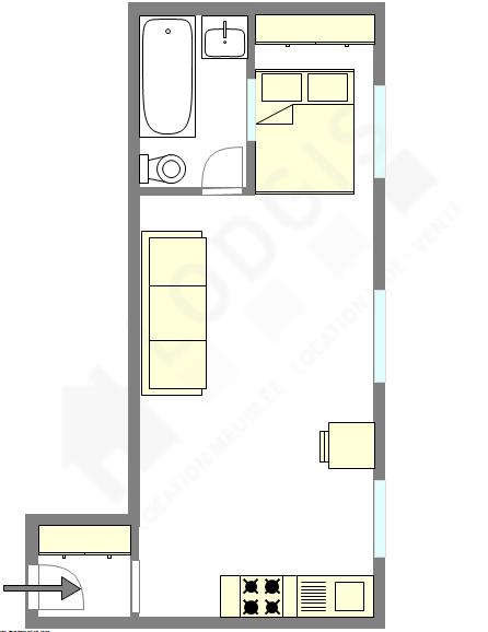 Appartement Paris 18° - Plan interactif