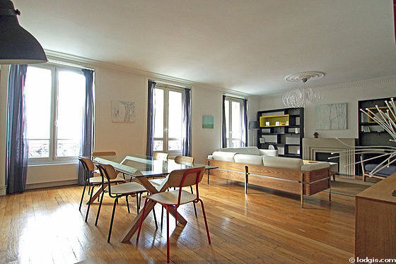 Location appartement 3 chambres avec ascenseur et for Appartement meuble paris long sejour