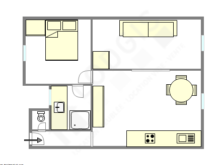Apartment Hauts de seine Sud - Interactive plan