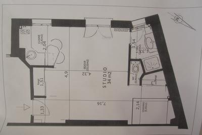 location studio avec ascenseur et cave paris 19 rue de crim e meubl 34 m la villette. Black Bedroom Furniture Sets. Home Design Ideas