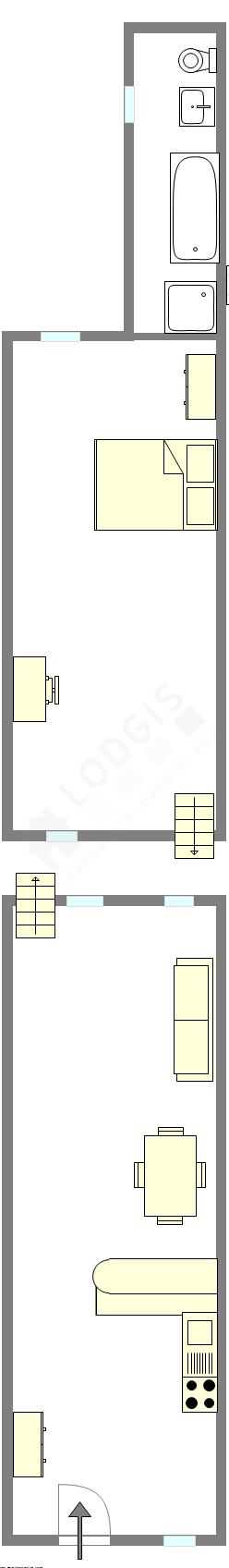 Dúplex Paris 5° - Plano interativo