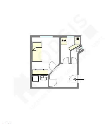 公寓 巴黎15区 - 互動圖