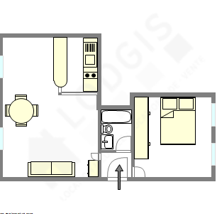 Wohnung Paris 14° - Interaktiven Plan