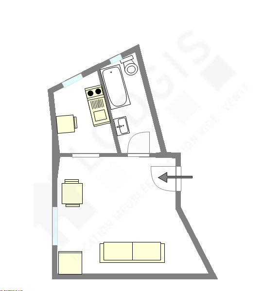 Apartment Paris 6° - Interactive plan