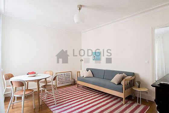 Quiet living room furnished with 1 sofabed(s) of 140cm, tv, dvd player, 4 chair(s)