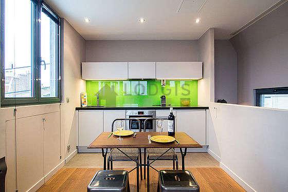 Beautiful kitchen with tile floor