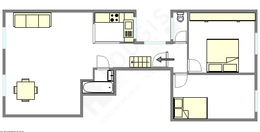 Appartement Paris 8° - Plan interactif