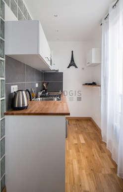Magnifique cuisine avec du parquet au sol