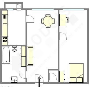 Appartement Paris 12° - Plan interactif