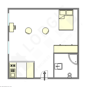 Wohnung Paris 6° - Interaktiven Plan