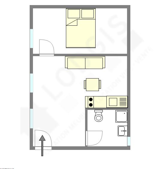Apartamento París 9° - Plano interactivo