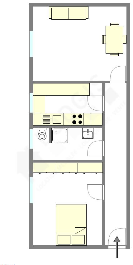 Квартира Val de marne est - Интерактивный план