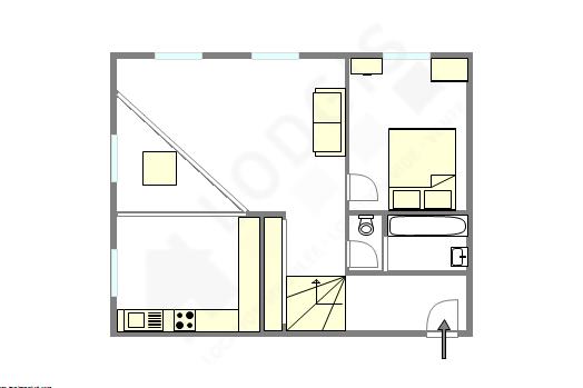 Apartamento Paris 4° - Plano interativo