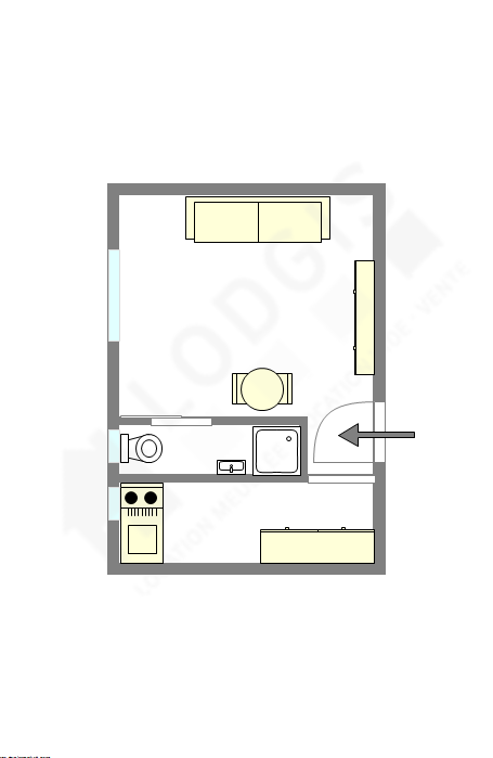 Apartamento Paris 15° - Plano interativo