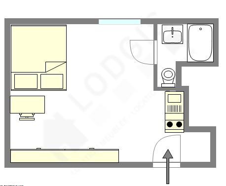 Appartement Paris 1° - Plan interactif