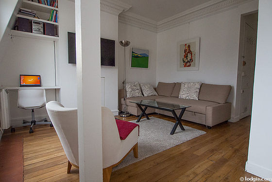 Very quiet living room furnished with 1 sofabed(s) of 140cm, tv, 1 armchair(s), 2 chair(s)