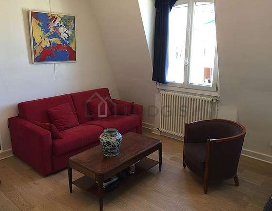 Quiet living room furnished with 1 sofabed(s) of 140cm, tv, 2 armchair(s), 1 chair(s)