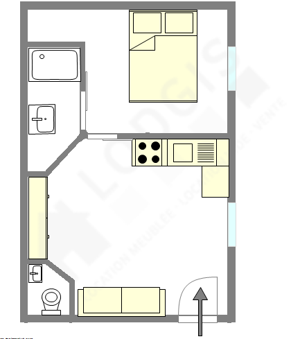 Wohnung Paris 19° - Interaktiven Plan