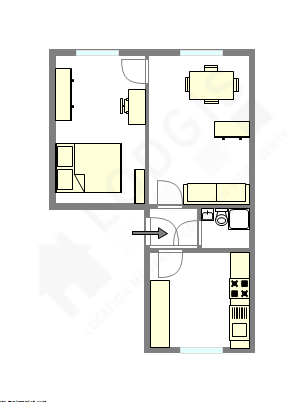 Wohnung Paris 13° - Interaktiven Plan