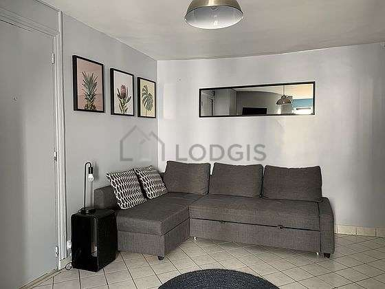 Quiet living room furnished with 1 sofabed(s) of 140cm, tv, cupboard, 4 chair(s)
