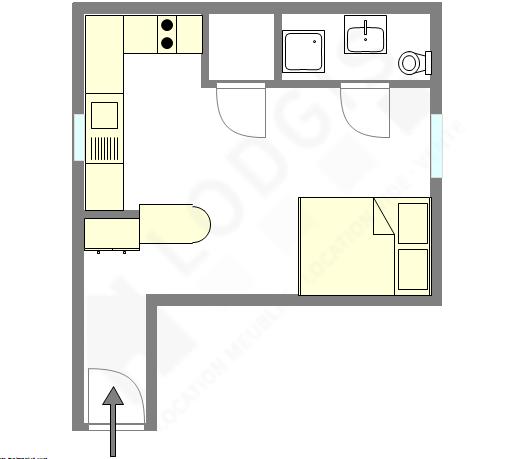 Appartement Paris 16° - Plan interactif