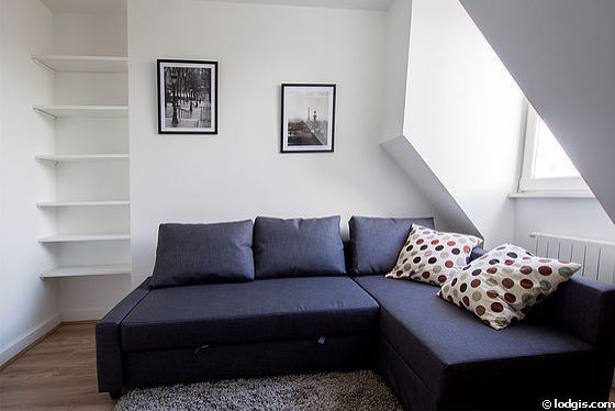 Quiet bedroom for 2 persons equipped with 1 sofabed(s) of 140cm