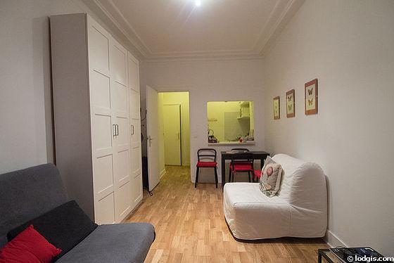 Séjour calme équipé de 1 futon(s) de 80cm, 1 canapé(s) lit(s) de 140cm, téléviseur, armoire