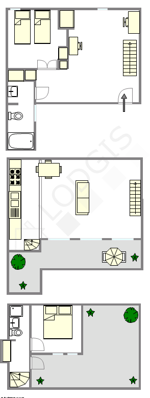 Triplex Paris 1° - Plan interactif