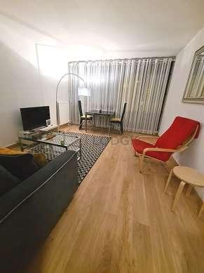 Séjour calme équipé de 1 lit(s) d'appoint de 80cm, 1 canapé(s) lit(s) de 140cm, téléviseur, 1 fauteuil(s)
