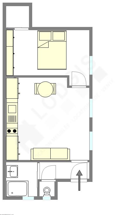 Квартира Париж 18° - Интерактивный план