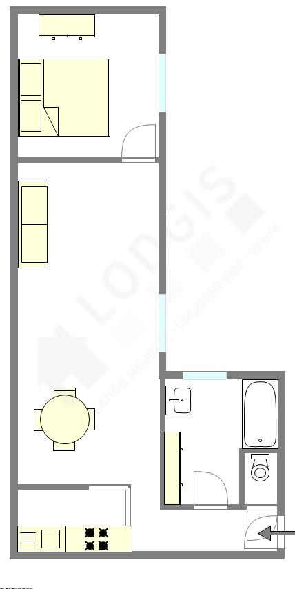 Apartamento Paris 8° - Plano interativo