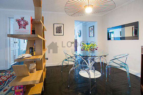 Beautiful dining room with wooden floor for 4 person(s)