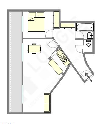 Appartamento Haut de Seine Nord - Piantina interattiva