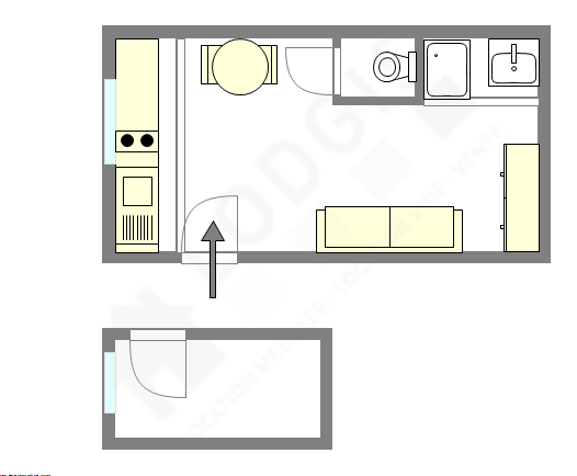 Apartment Paris 18° - Interactive plan